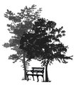 Bench Under The Trees Royalty Free Stock Photography - 47687007