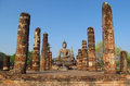 Buddha Statue Sukhothai Historical Park In Thailand Royalty Free Stock Image - 47691226