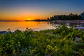 Rocks And Bushes On A Jetty At Sunset, At Smathers Beach, Key We Royalty Free Stock Photos - 47692768