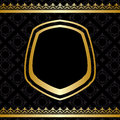 Golden Decorations On Black Vector Background Stock Photo - 47694350