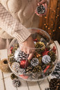 Decorating Home For Christmas Stock Images - 47699024