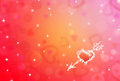 St.Valentine Red Background With Shining Heart Shape Stars Stock Images - 47704594