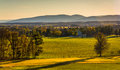 View Of Farm Fields And Distant Mountains From Longstreet Observ Stock Images - 47705094