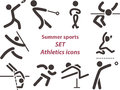 2562 - Set Of Athletics Icons Royalty Free Stock Images - 47707979