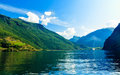 Tourism And Travel. Mountains And Fjord In Norway. Stock Photography - 47711462
