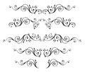 Vintage Ornamental Vector Frames Set Isolated On White Royalty Free Stock Photography - 47724787