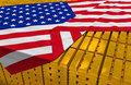 USA Gold Reserve Stock Stock Photography - 47725692