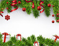 Christmas Banner With Spruce Branches. Stock Photo - 47730310