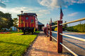 Train Car Outside The Train Station In New Oxford, Pennsylvania. Royalty Free Stock Photo - 47733875