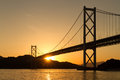 Bridge Over The Sea In The Sunset Royalty Free Stock Photography - 47738177