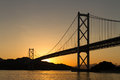 Silhouette Of The Bridge In Sunset Royalty Free Stock Photography - 47738297