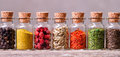 Spices In Bottles Royalty Free Stock Image - 47747026