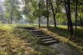 Shady Hillside Stone Steps In Warm Winter Morning Stock Photography - 47749132