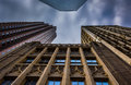 Looking Up At Tall Buildings And A Cloudy Sky In Philadelphia, P Stock Images - 47758034