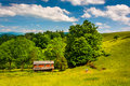 Old House In A Field In The Potomac Highlands Of West Virginia. Royalty Free Stock Photo - 47758765