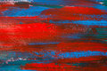 Close Up Of Paint Background With Blue And Red Strokes Stock Photos - 47766203