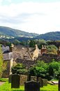 Churchyard And Rooftops, Bakewell. Royalty Free Stock Photography - 47775887