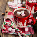 Hot Chocolate And Marshmallows. Stock Photography - 47781152