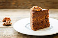 Chocolate Cake With Walnuts Royalty Free Stock Image - 47784806