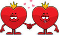 Cartoon King And Queen Of Hearts Stock Image - 47788251