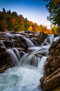 Autumn Color And Waterfall At Rocky Gorge, On The Kancamagus Hig Royalty Free Stock Photos - 47793658