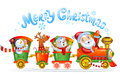 Toy Train With Reindeer, Bear And Snowman. Stock Image - 47798591