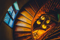 Looking Down A Spiral Staircase In The Handley Library, Winchest Royalty Free Stock Image - 47800706