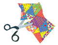 Quilt And Scissors Illustration Royalty Free Stock Photo - 47802145