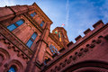 Looking Up At The Smithsonian Castle, In Washington, DC. Stock Photography - 47802382