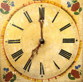 Clock Face Dial Vintage Wooden Royalty Free Stock Image - 47811296