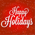 Happy Holidays Vector Illustration On Abstract Royalty Free Stock Image - 47813646