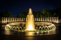 The National World War II Memorial Fountains At Night At The Nat Stock Images - 47817234