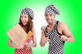 Pair Of Funny Cooks Stock Photos - 47820313
