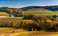 Autumn View Of Rolling Hills In Rural York County, Pennsylvania. Royalty Free Stock Photo - 47829115