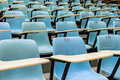 Row Stack Of Chairs In Lecture Room Stock Images - 47829634