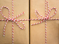 String Bows Against Brown Paper Stock Photography - 47831002