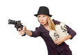 Woman Gangster With Gun Royalty Free Stock Photography - 47833787