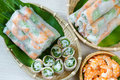 Vietnamese Food, Goi Cuon, Salad Roll Royalty Free Stock Image - 47835926