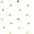 Floral Watercolor Clover Pattern Royalty Free Stock Photo - 47849445