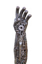 Hand Of Metallic Cyber Or Robot Made From Mechanical Ratchets Royalty Free Stock Image - 47850276