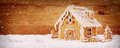 Winter Holiday Gingerbread House . Royalty Free Stock Photo - 47856475