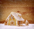 Winter Holiday Gingerbread House . Royalty Free Stock Images - 47856649