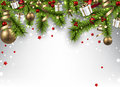 Christmas Banner With Spruce Branches. Royalty Free Stock Photo - 47858895