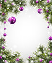 Christmas Background With Spruce Branches. Stock Photography - 47858942