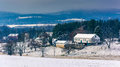 Winter View Of A Farm And The Piegon Hills, Near Spring Grove, P Stock Photography - 47868302