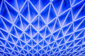 Abstract Blue Architecture Ceiling Stock Photography - 47872162