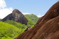 Mountain Landscape In The Seychelles In The Tropics Stock Photos - 47873153
