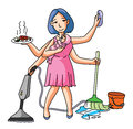 House Wife Multi Job Royalty Free Stock Images - 47878919