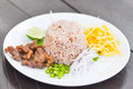 Fried Rice With Shrimp Paste Stock Images - 47883854