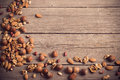 Mixed Nuts On Wooden Background Royalty Free Stock Photo - 47886965